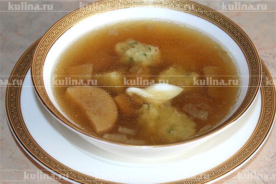 клецки манные для супа рецепт приготовления