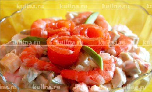 салат из авокадо с креветками и майонезом рецепт
