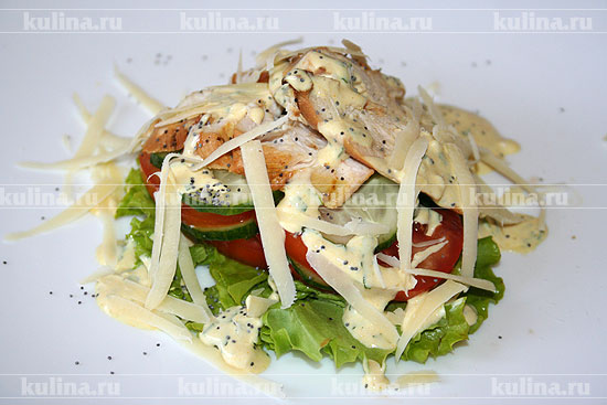 рецепт салат из курицы с овощами в
