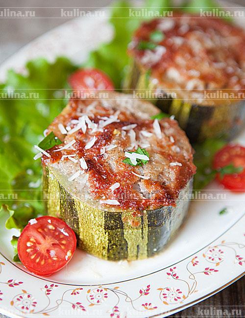 Кабачки, фаршированные рисом и мясом