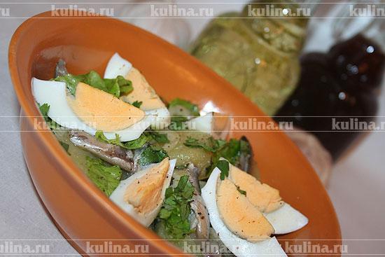 Салат с килькой рецепт