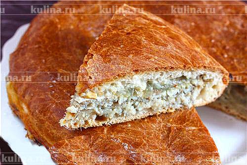 Пирог из мойвы с картошкой рецепт