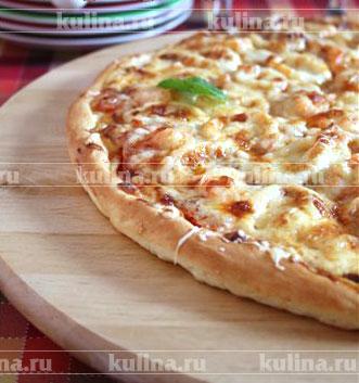 домашняя пицца слоеное тесто в духовке рецепт с фото