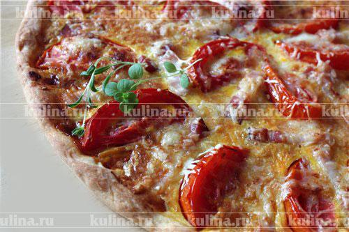 Пицца с беконом рецепт