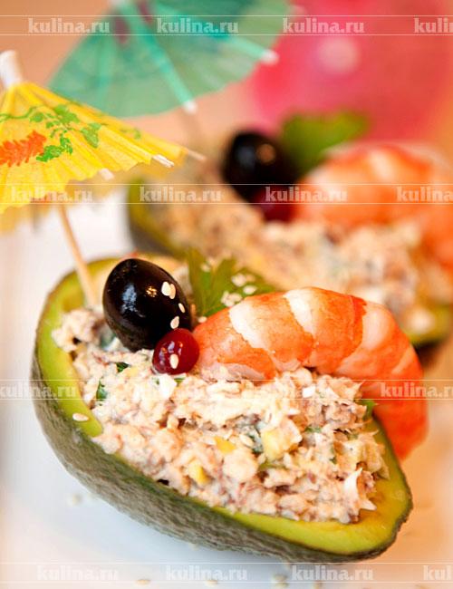 рецепт салат с тунцом и авокадо рецепт с фото