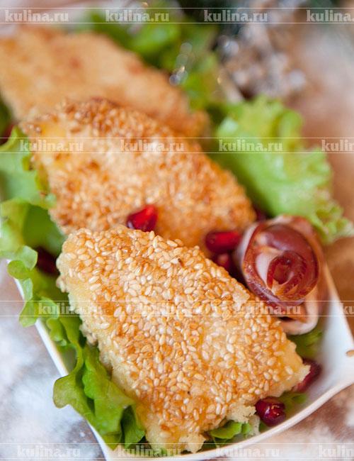 Рецепт жареного адыгейского сыра в кунжуте