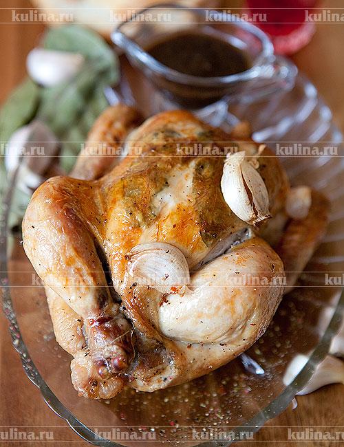 курица с в духовке с майонезом и чесноком рецепт с фото пошагово в духовке
