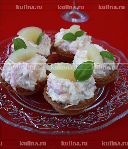 салаты для детей в тарталетках рецепты с фото