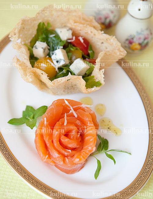 салат в сырных корзиночках рецепты