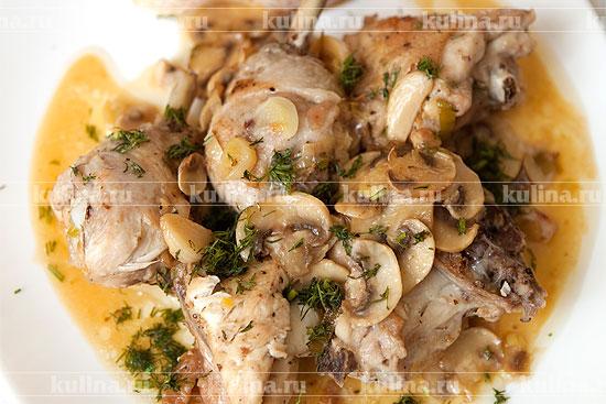 рецепт курица шампиньоны
