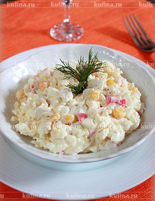 Как сделать крабовый салат рецепт фото 168