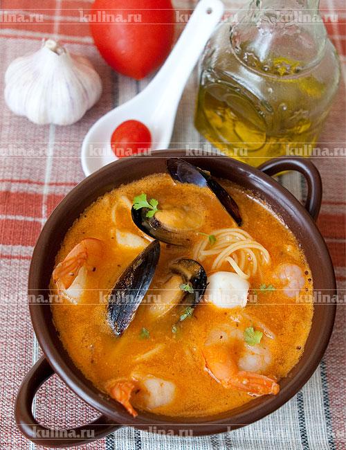 томатный суп с морепродуктами рецепт с
