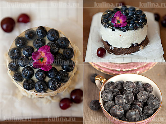 Торт с голубикой рецепт с фото