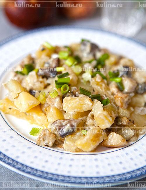 рецепт грибы с луком и сметаной рецепт с фото пошагово