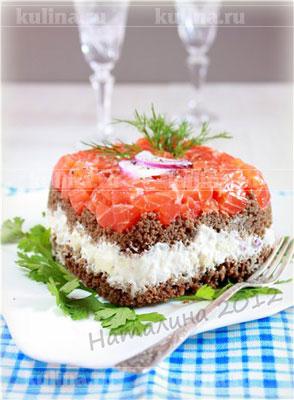 Слоеный тартин с лососем и яблоками – рецепт приготовления с фото от Kulina.Ru