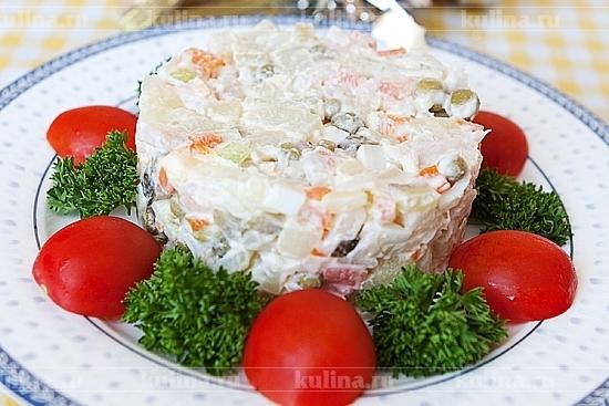 оливье рецепт с креветками с фото как вкусно приготовить