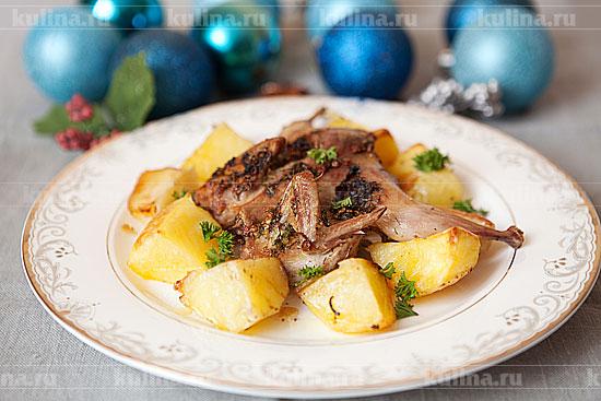 Рецепт перепелов с картошкой в духовке фото
