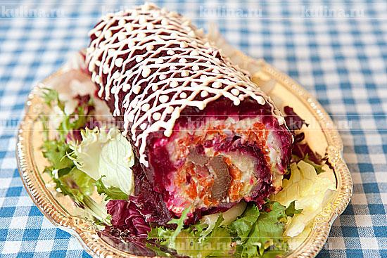 красная рыба под шубой салат рецепт