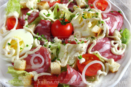 салат цезарь с салатом айсберг рецепт с фото