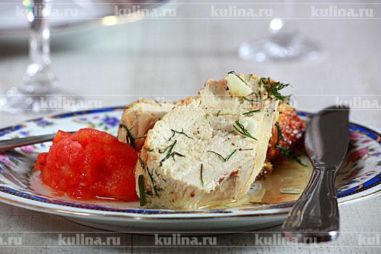 рецепт куриная грудка в духовке с помидорами фото рецепт