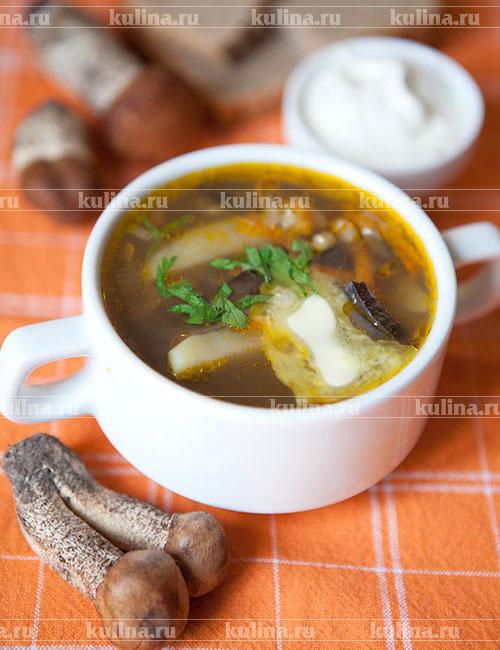 Суп с белыми сушеными белыми грибами рецепт