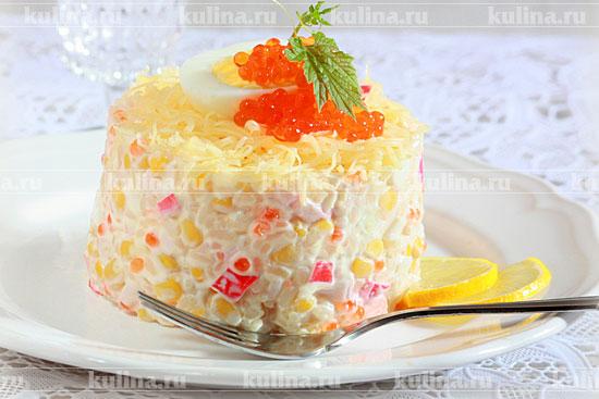 крабовый салат с сыром рецепт с фото