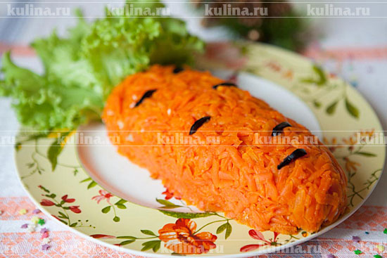Новогодний салат Морковка в 2019 году