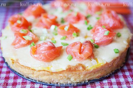 Пирог с слабосоленой семгой рецепт