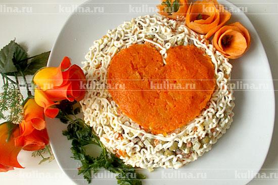 Салат из сердца и шампиньонов рецепт 81