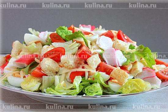 салаты с крабовым мясом рецепты с фото