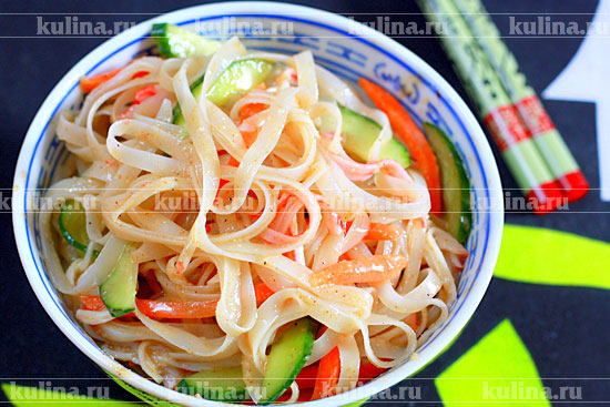 Рисовая лапша с овощами рецепты с фото
