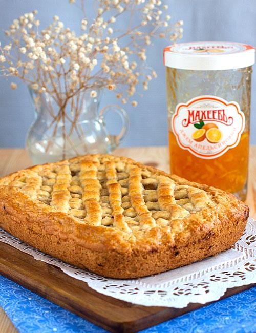 Быстрый пирог с апельсиновым джемом от Юлии Высоцкой – кулинарный рецепт