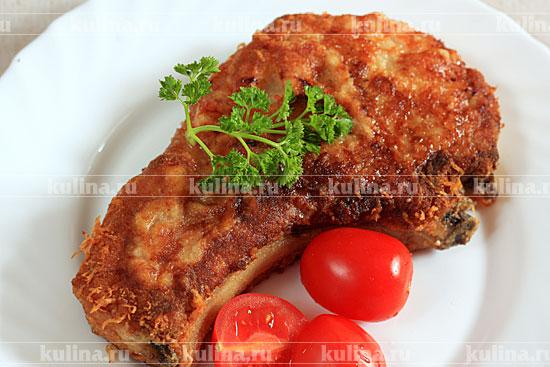 котлета на косточке свиная рецепт в духовке