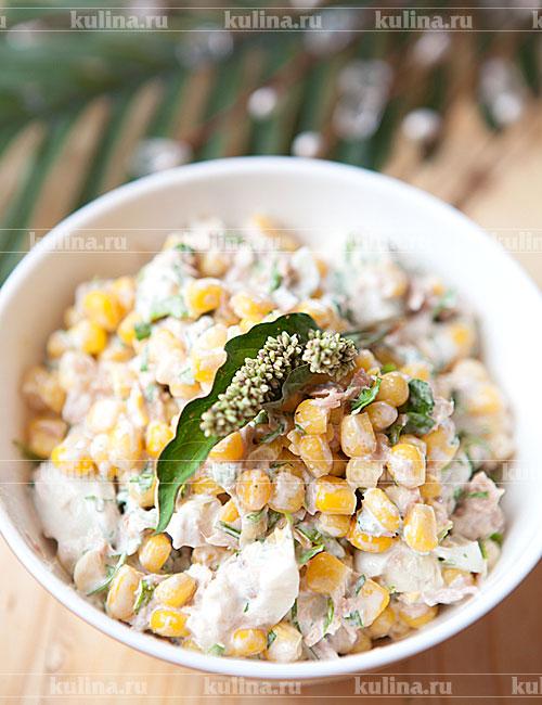 Салаты с фасолью консервированнойы с фото с грибами