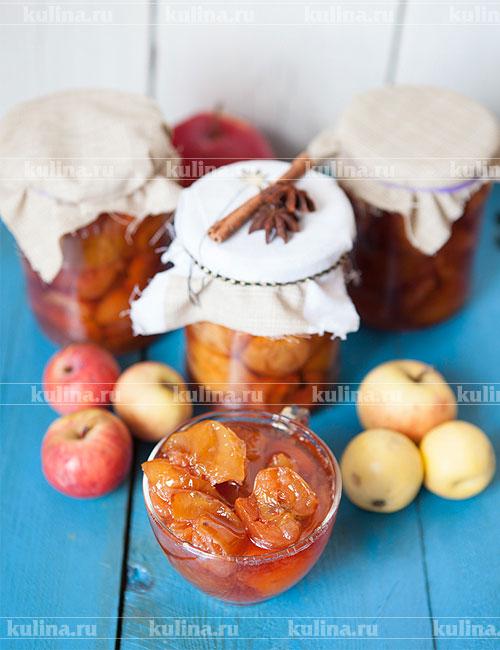 рецепт яблочного варенья с корицей