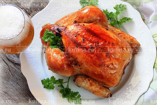 цыпленок в духовке видео рецепт