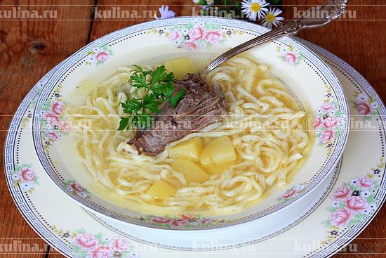 рецепт супа лапша с уткой