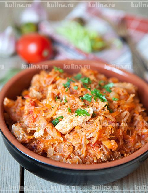 солянка капустная с мясом рецепт