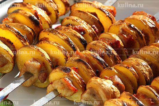Картофель, запеченный с подчеревком
