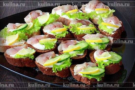 бутерброды с копченой скумбрией рецепты с фото