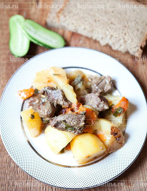 мясо с картофелем в мультиварке рецепты с фото