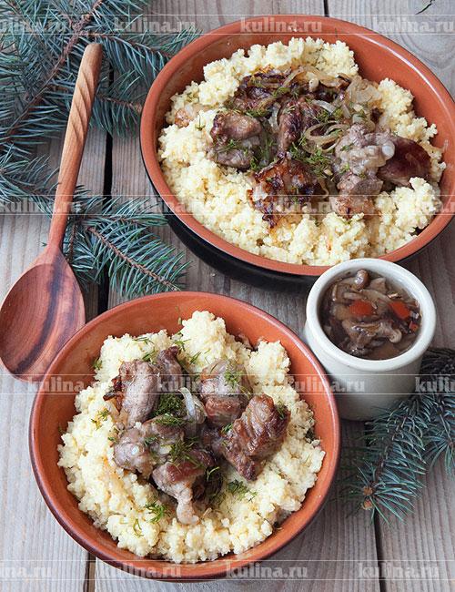 пшённая каша с мясом рецепт с фото