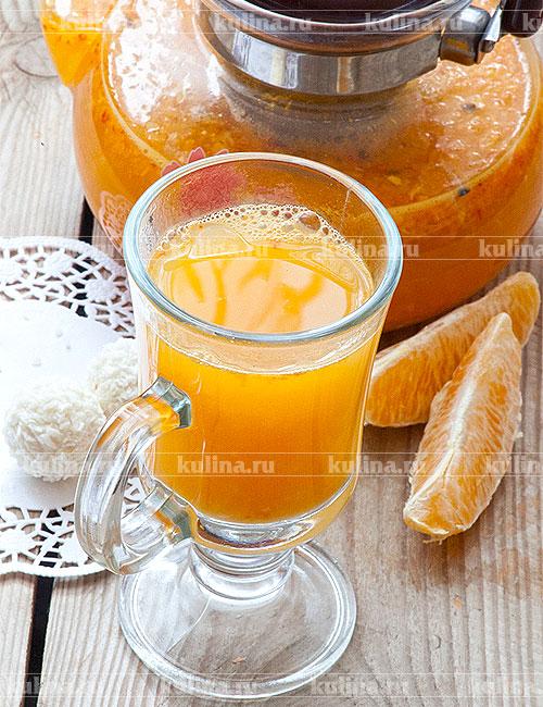 Чай с облепихой и апельсинами