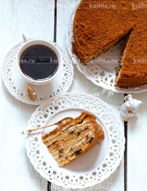 рецепт вкусного нежного медового торта
