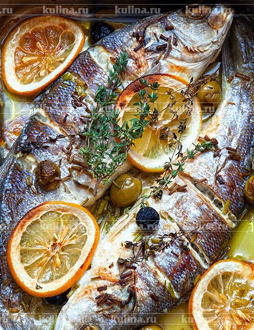 рыба сибас рецепт духовке