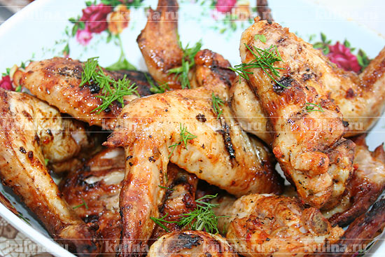Рецепты шашлыка из куриных крылышек