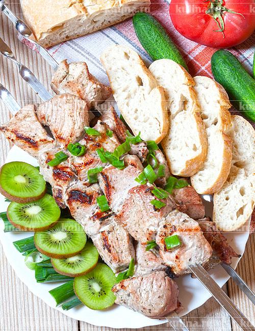 Рецепт маринования шашлыка с киви