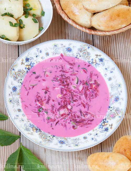 Холодный борщ литовский рецепт пошаговый с