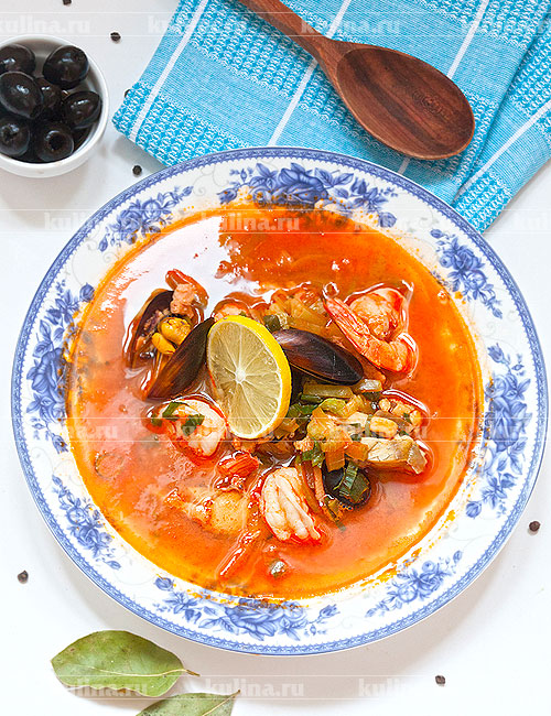 солянка из морепродуктов рецепт с фото
