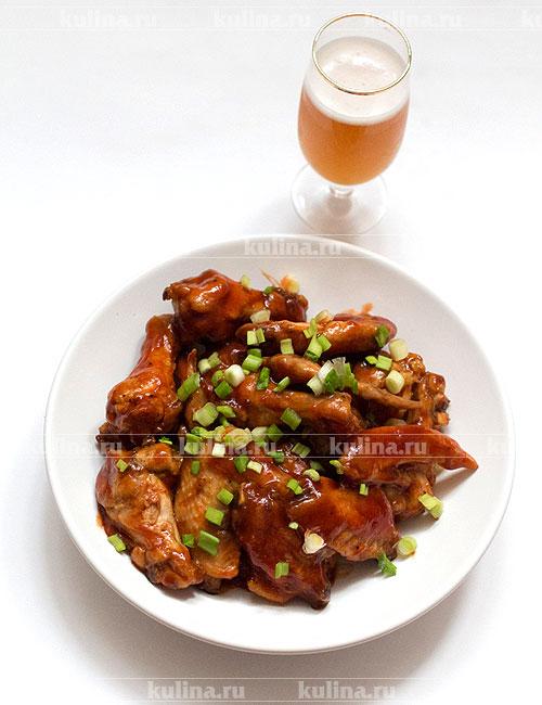 Крылышки к пиву в духовке рецепт пошагово 2